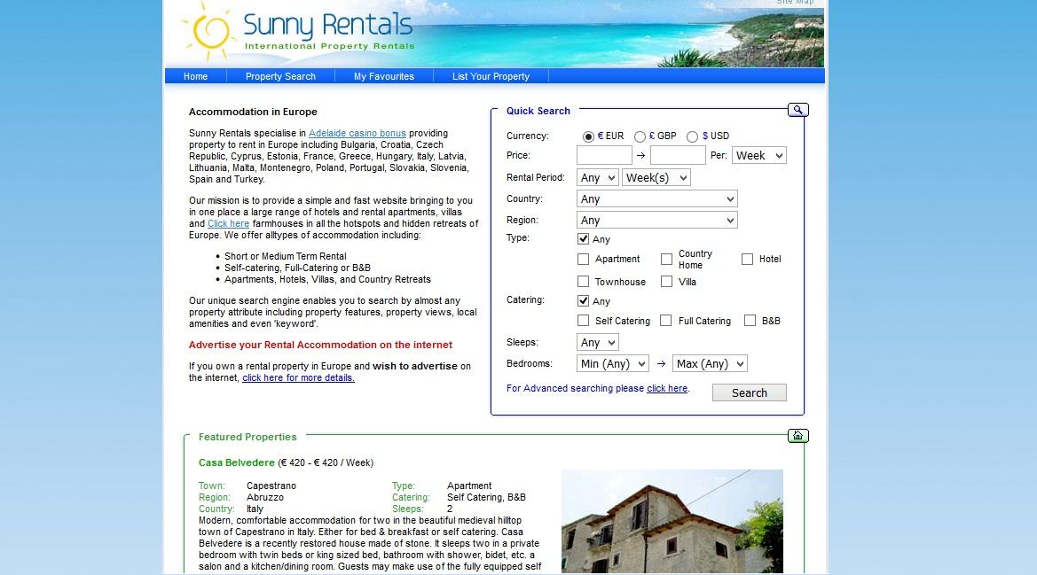 Sunny rentals